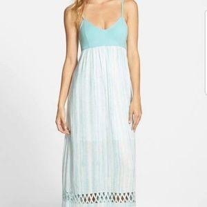 d77543ce8 RVCA Dresses | Clever Girl Baby Blue Backless Maxi Dress | Poshmark